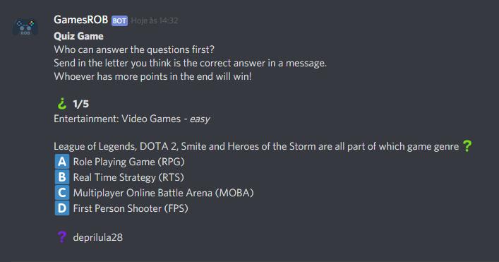 GamesROB | Discord Bots